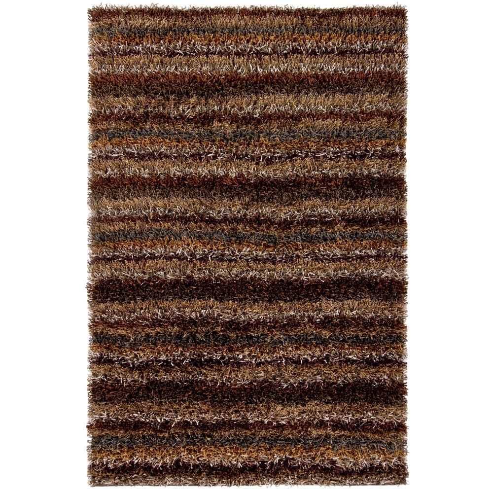 Hand Woven Contemporary Rug 7 9x10 6 Brown Grey Tan
