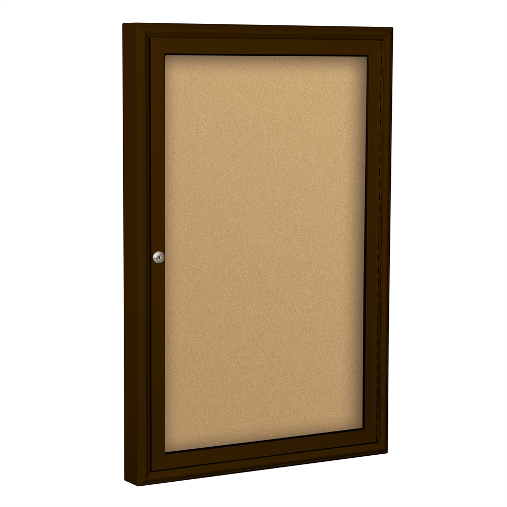 Best rite outdoor enclosed bulletin board cabinet 1 door for 1 door cabinet