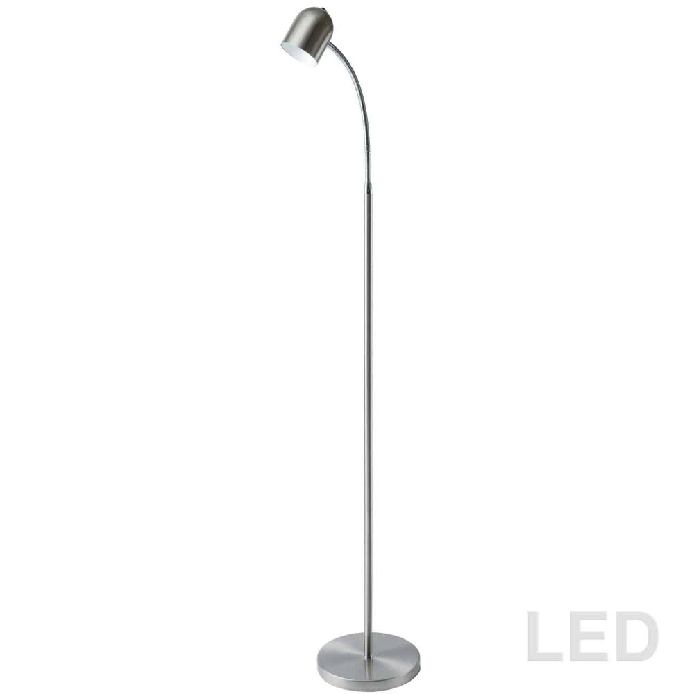 5W Floor Lamp, Satin Chrome Finish. Picture 3