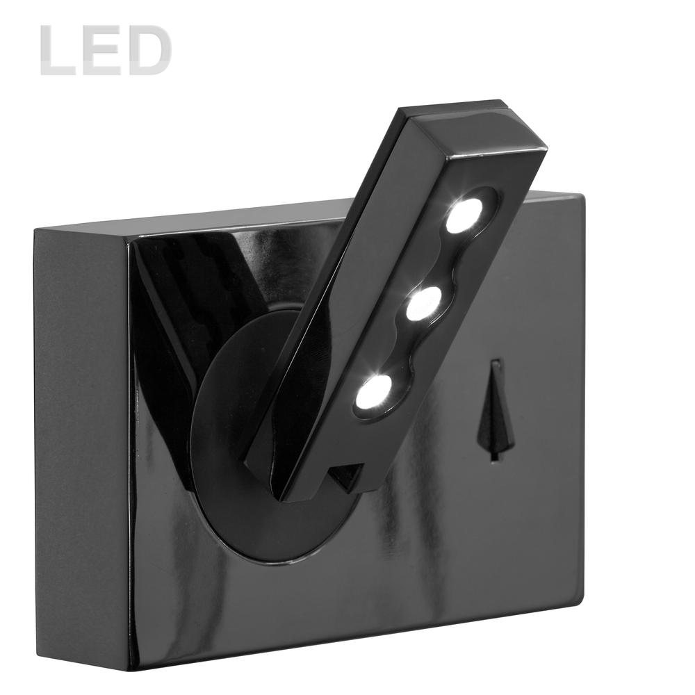 1LT LED Wall Mount, Black Finish. Picture 1