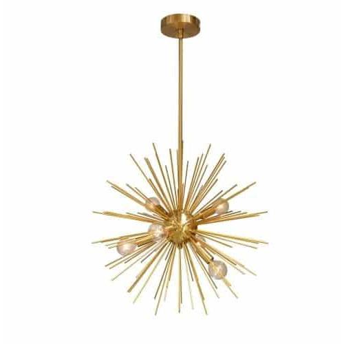 6LT Pendant, Gold & Vintage Bronze Finish. Picture 1