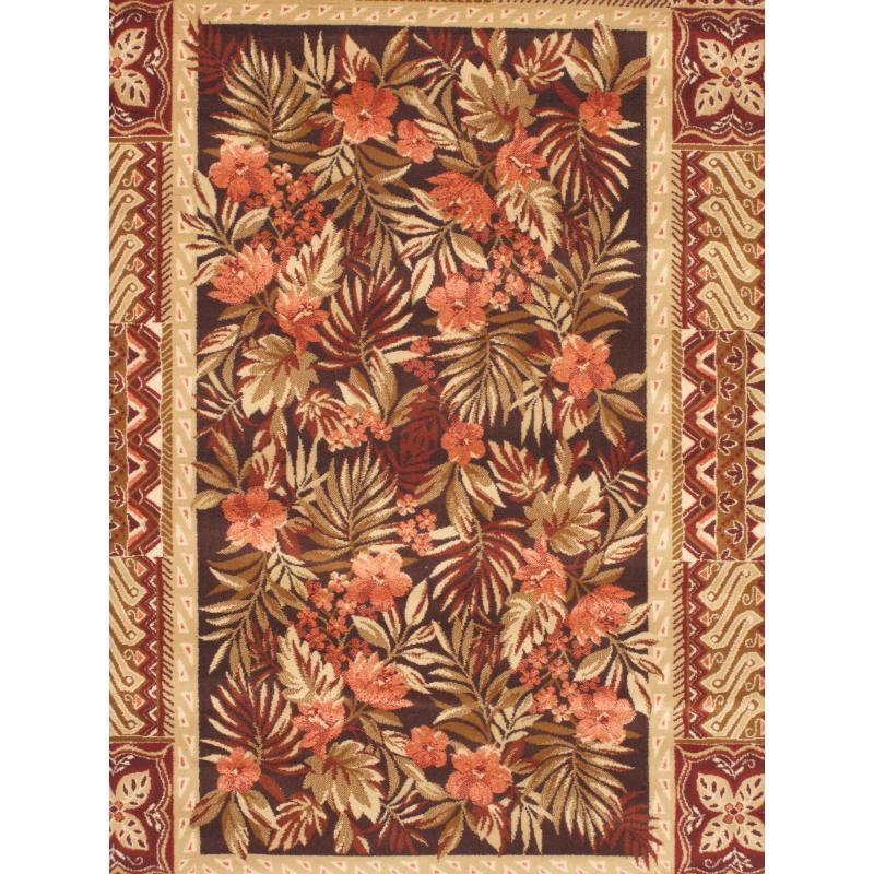 Chateau Versailles Beige Dark Brown Wool Silk Rug 5 3 Quot X 7 6 Quot