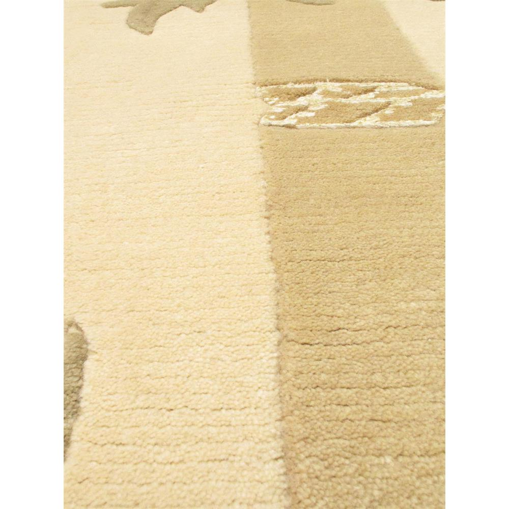 """Pasargad Ny Persian Hand Knotted Wool Light Blue Ivory: Hand-knotted Silk Touch Light Gold Wool/Silk Rug 5'2"""" X 7'10"""""""