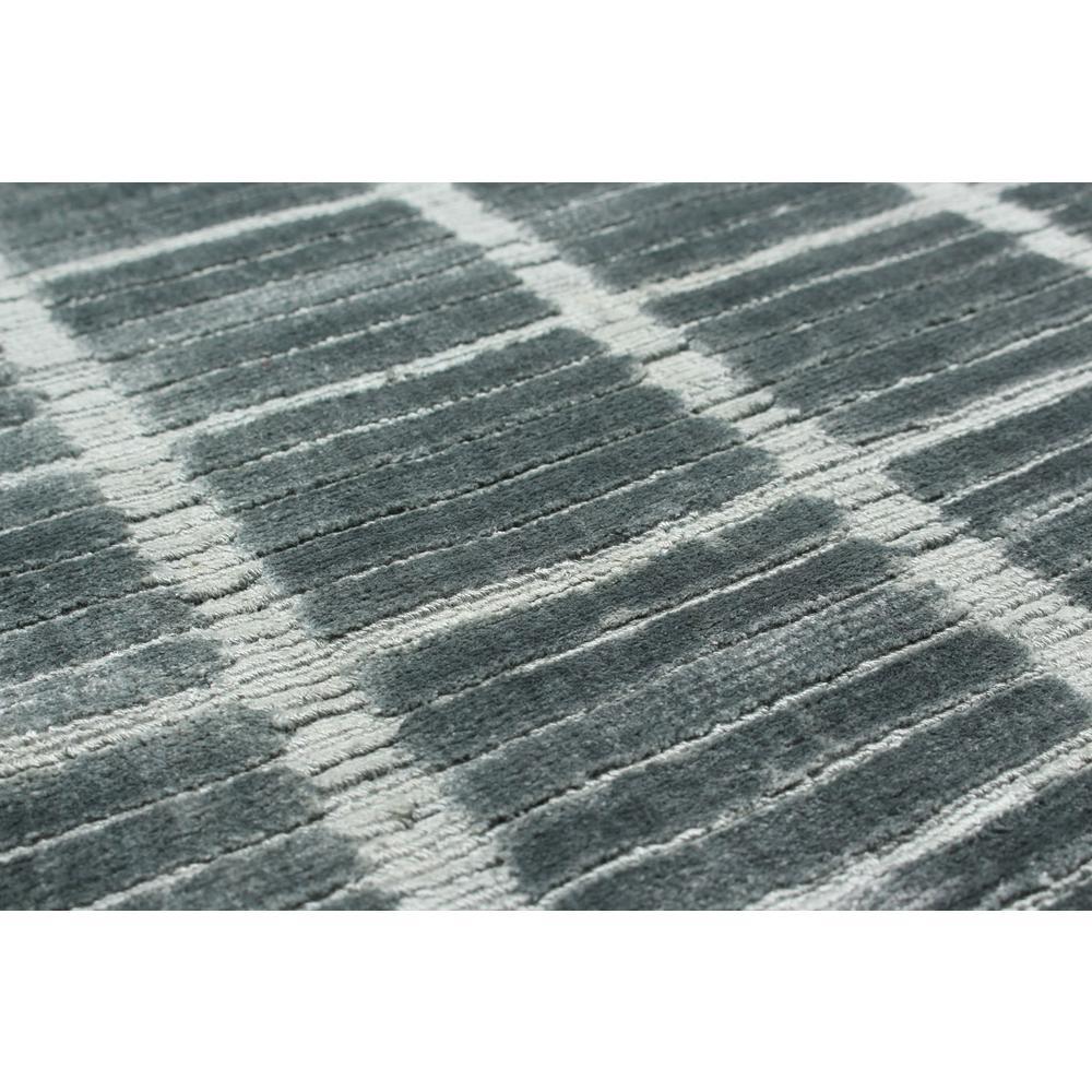 """Hand-knotted Shimmer Parquet Dark Teal Silk Rug 8'0"""" X 10'0"""""""