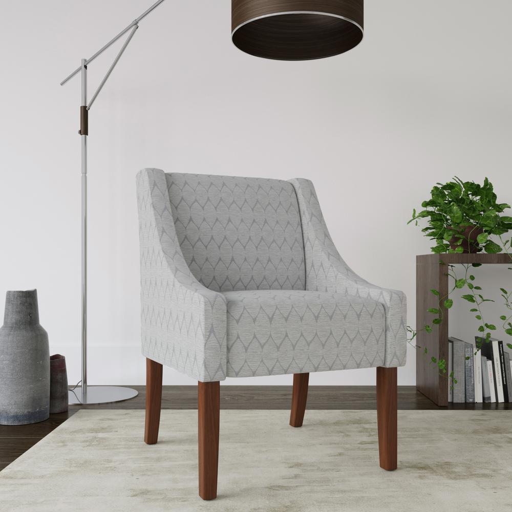 Modern Swoop Accent Chair - Textured Gray
