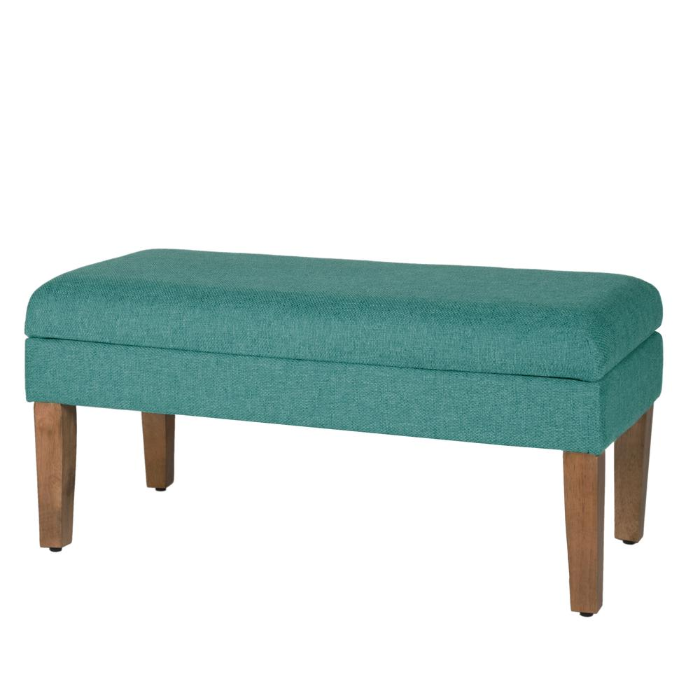 Teal Chunky Textured Decorative Storage Bench