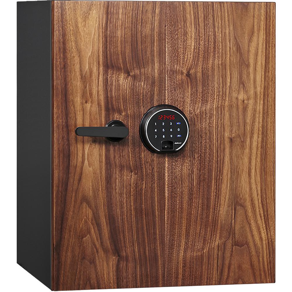 Dbaum Fingerprint Lock Luxury Fireproof Safe with Walnut Door 2.28 cu ft. Picture 1