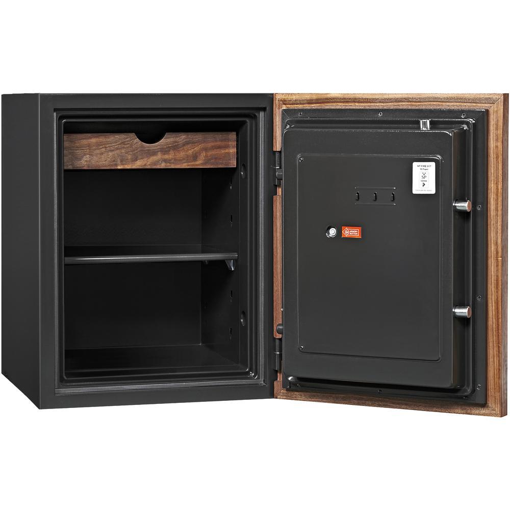 Dbaum Fingerprint Lock Luxury Fireproof Safe with Walnut Door 2.28 cu ft. Picture 3