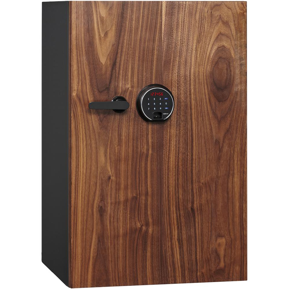 Dbaum Fingerprint Lock Luxury Fireproof Safe with Walnut Door 3.0 cu ft