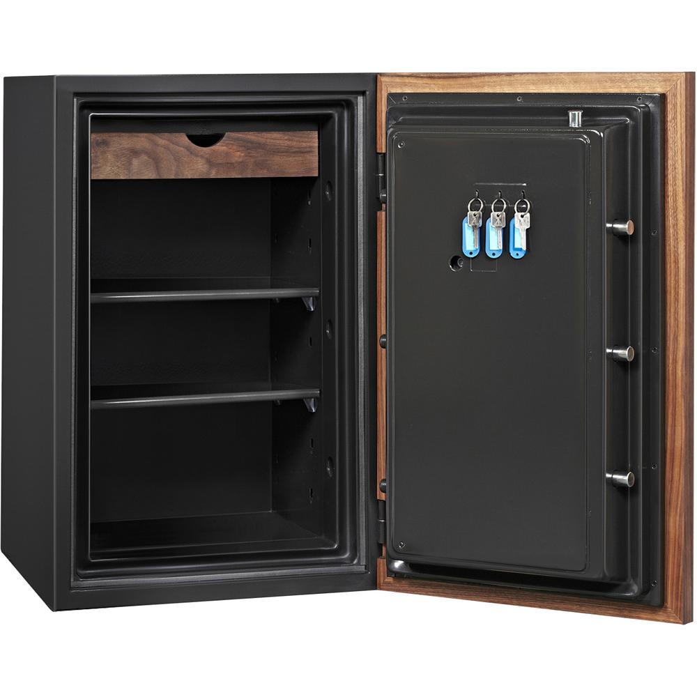 Dbaum Fingerprint Lock Luxury Fireproof Safe with Walnut Door 3.0 cu ft. Picture 3