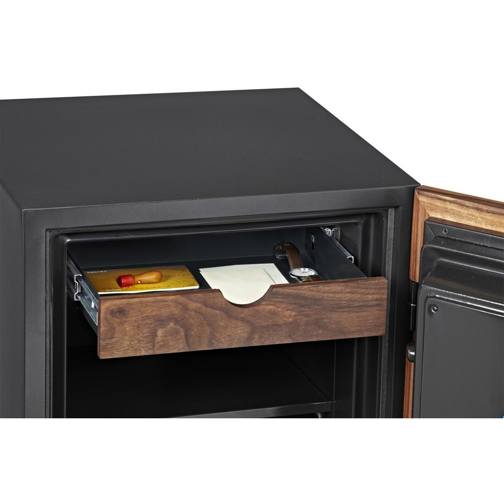 Dbaum Fingerprint Lock Luxury Fireproof Safe with Walnut Door 3.0 cu ft. Picture 4