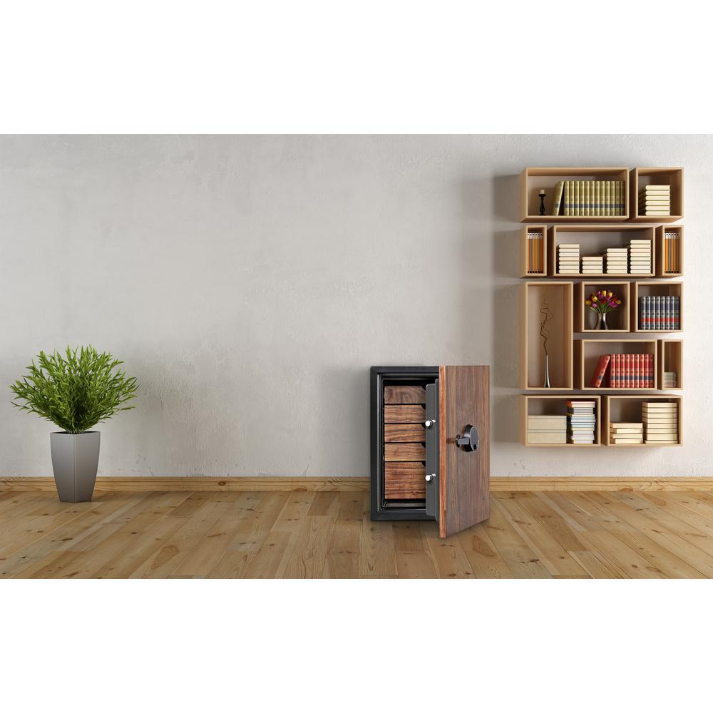 Dbaum Fingerprint Lock Luxury Fireproof Safe with Walnut Door 3.0 cu ft. Picture 6