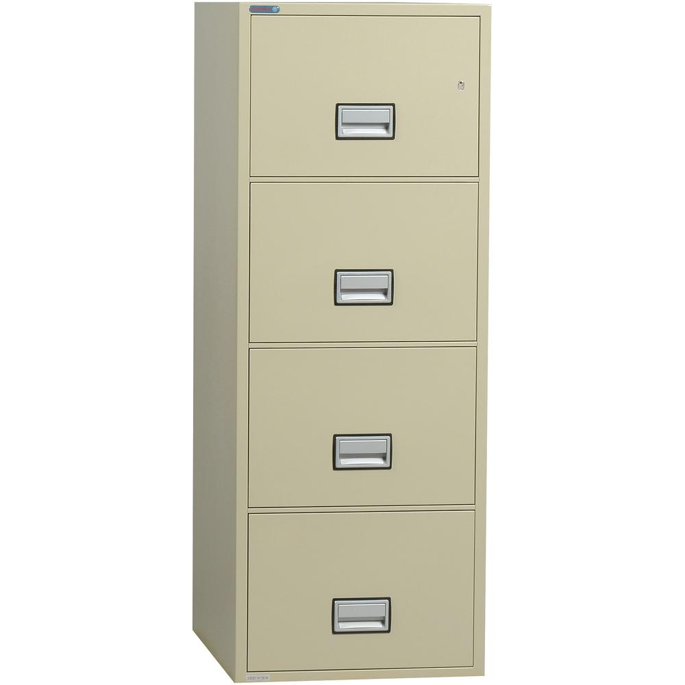 Vertical 31 inch 4-Drawer Letter Fireproof File Cabinet. Picture 1