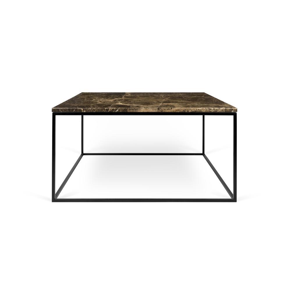 Temahome Gleam Black Marble Chrome Rectangle Coffee: Gleam 30x30 Marble Coffee Table