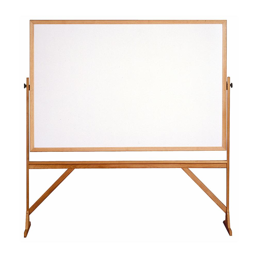 Ghent Reversible Whiteboard With Wood Frame, 4'H X 6'W