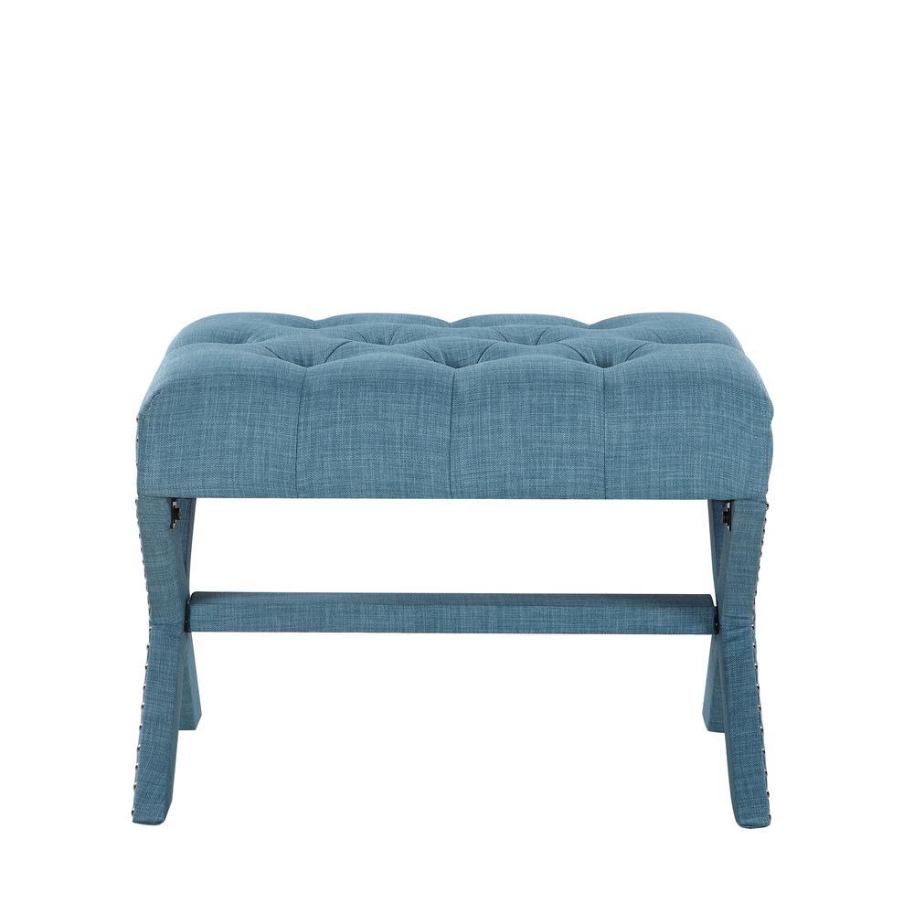 Edinburgh Blue Ottoman