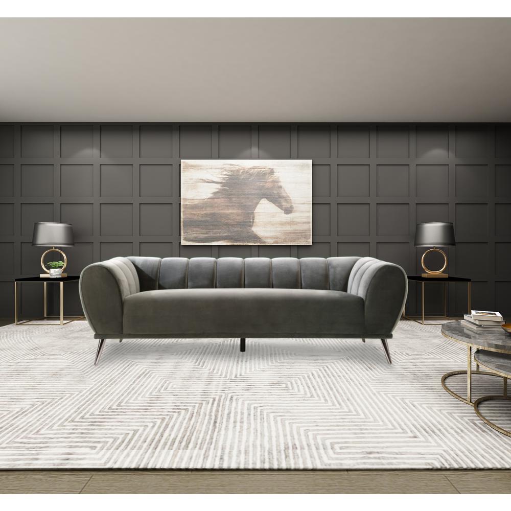 Giorgio Leather Reclining Sofa: Giorgio Grey Sofa