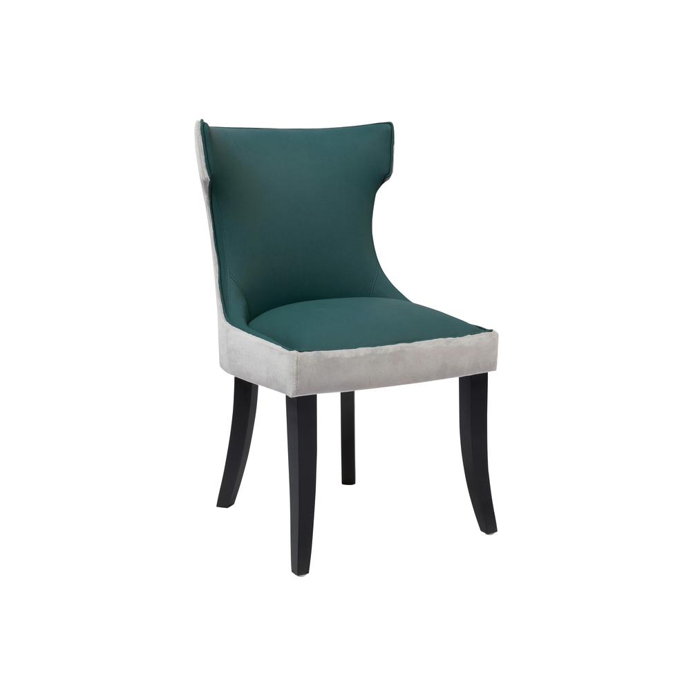 Chic Home Conrad Dining Side Chair Velvet PU Leather ...