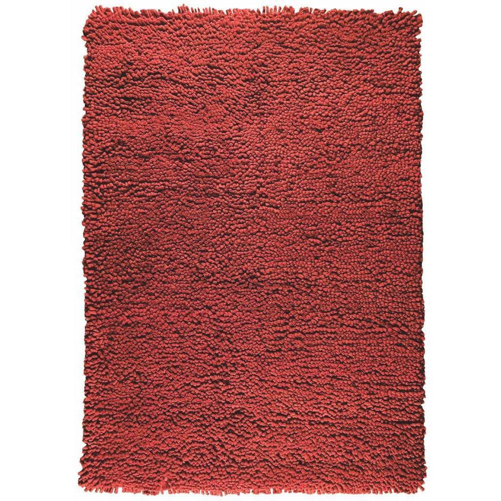 Feel Berber Area Rug Red