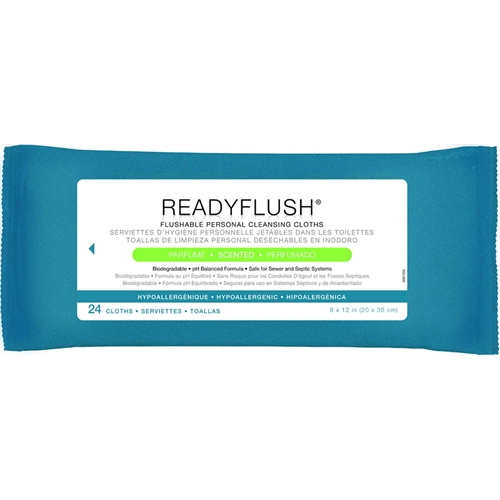 Flushable bathroom cleaning wipes
