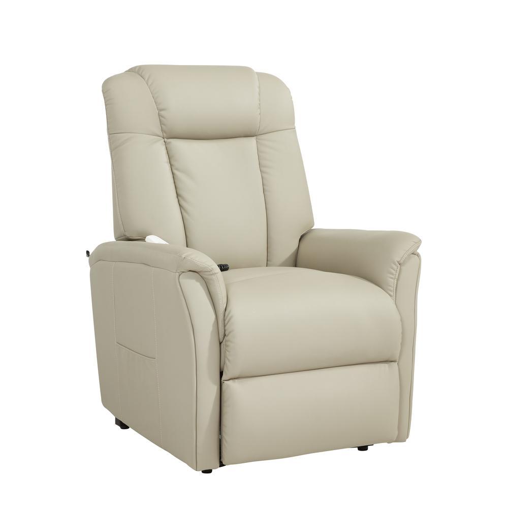Pistachio Green Leather Sofa: Comfort Lift Waylon Recliner, Warren