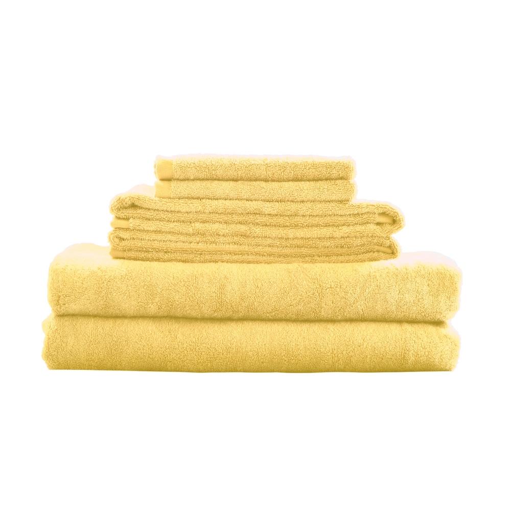 Bamboo Fiber 6pc Towel Set Yellow