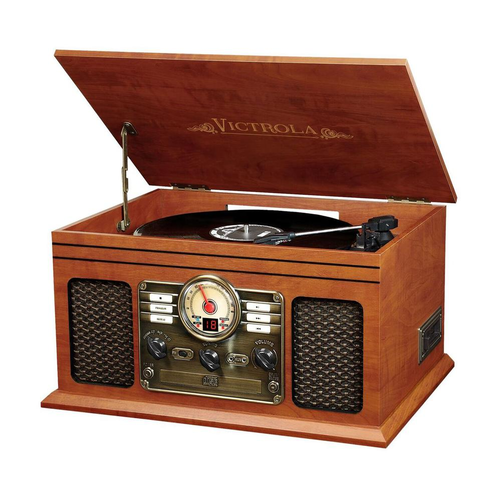 6-in-1 Victrola Entertainment Center. Picture 1