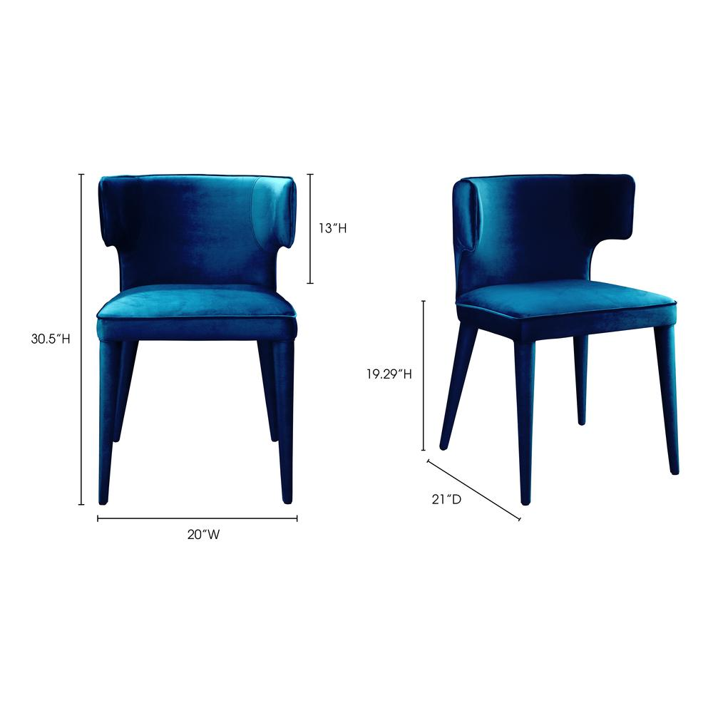 Jennaya Dining Chair Teal. Picture 2