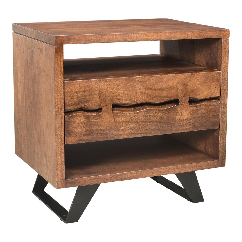 Madagascar Nightstand, Brown. Picture 1