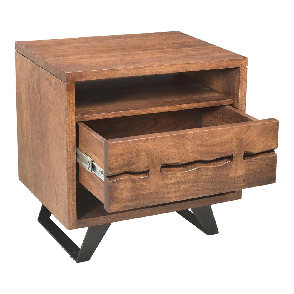 Madagascar Nightstand, Brown. Picture 6