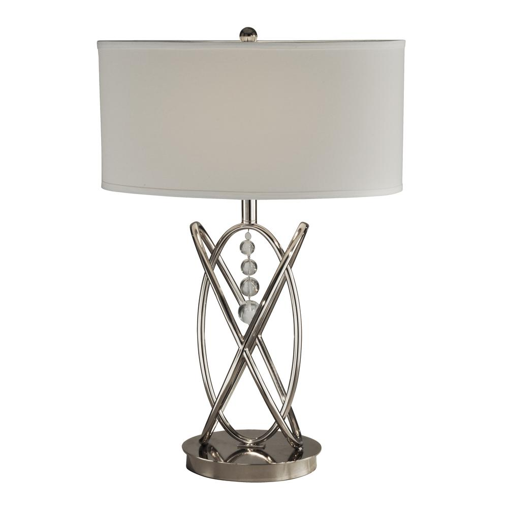 "Springdale 24.5""H Jupiter Crystal Metal Table Lamp. Picture 1"
