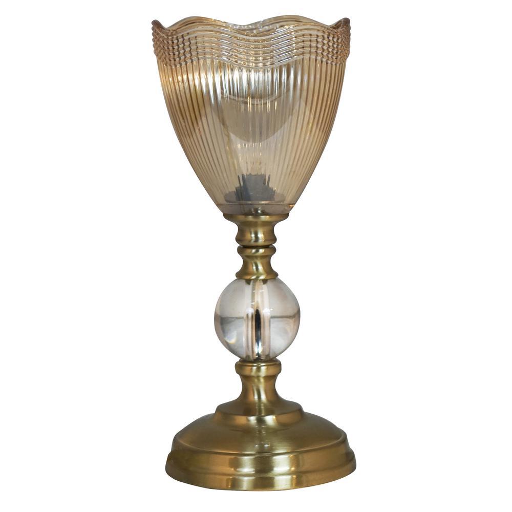 "Springdale 12""H Crown Crystal Accent Lamp"