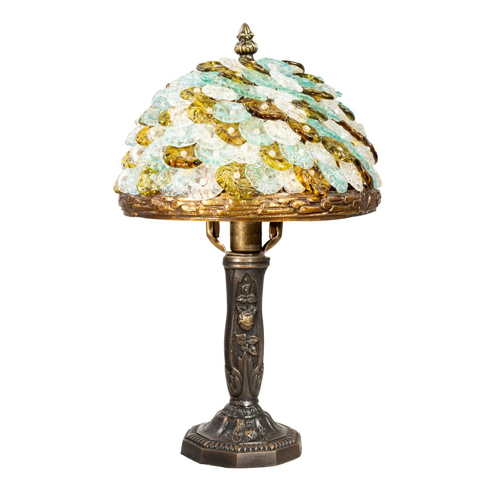 "Springdale 13""H Athens Art Glass Accent Lamp"