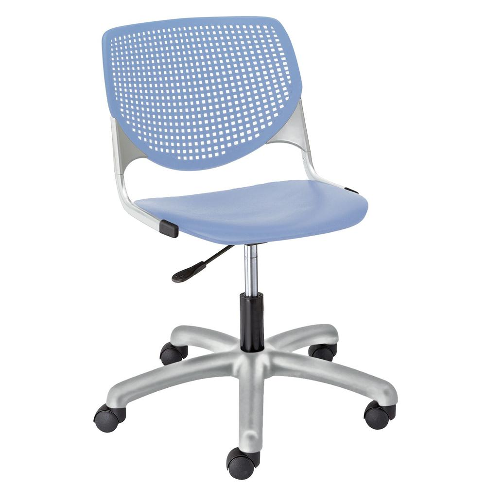 KOOL Poly Task Chair with Perforated Back, Peri Blue. Picture 1