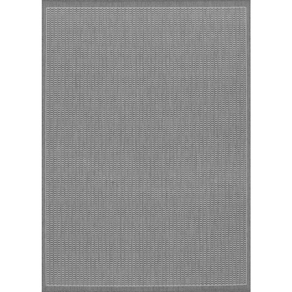 Saddlestitch Area Rug Grey White Rectangle 5 3 Quot X 7 6 Quot