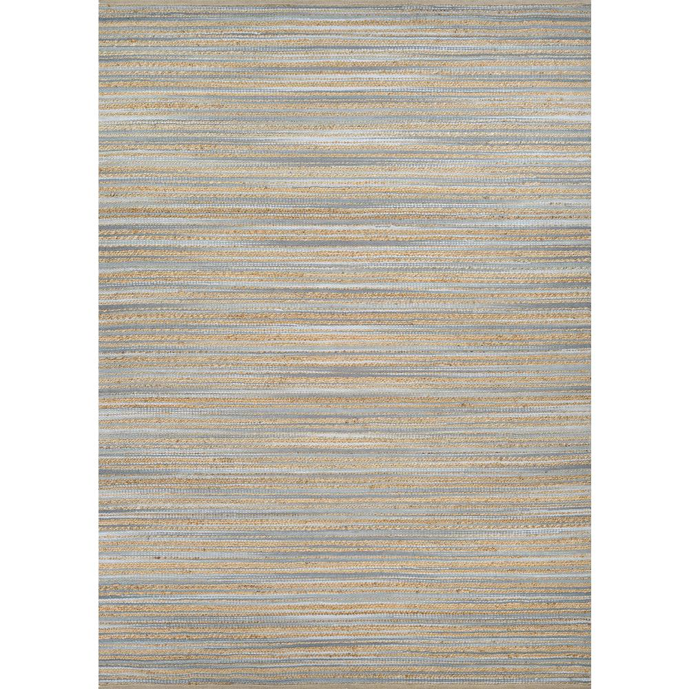 Eternity Landscapes Ocean Area Rug: Lodge Area Rug, Straw/Grey ,Rectangle, 6' X 9