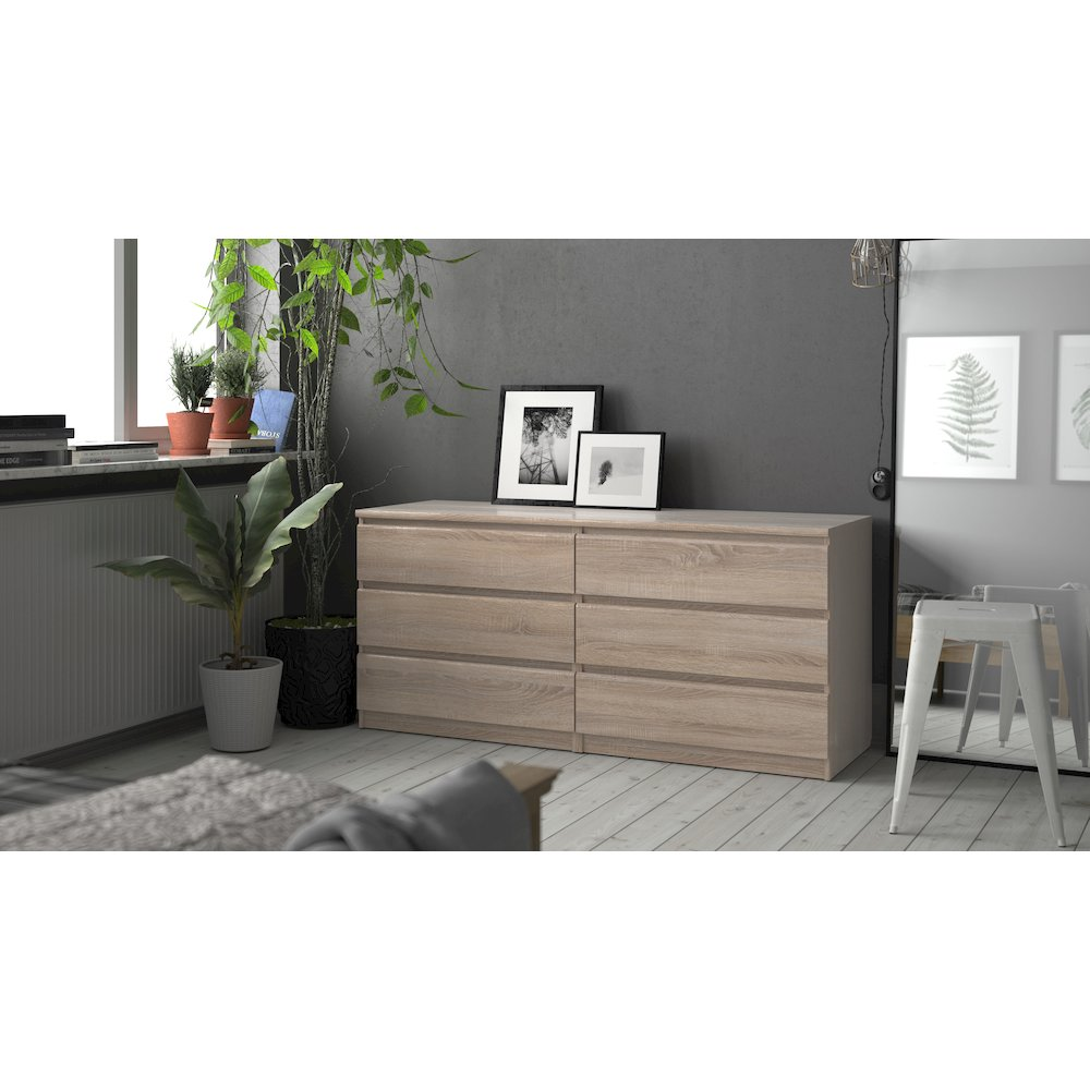 Scottsdale 6 Drawer Double Dresser, Truffle. Picture 14