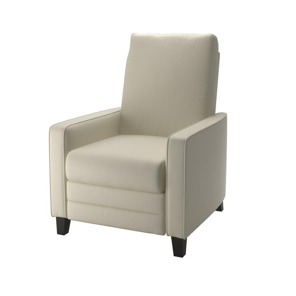 Kelsey Cream Bonded Leather Recliner. Picture 2