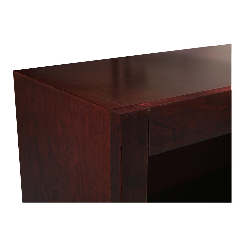 Concepts in Wood Single Wide Bookcase, 4 Shelves, Cherry Finish. Picture 4