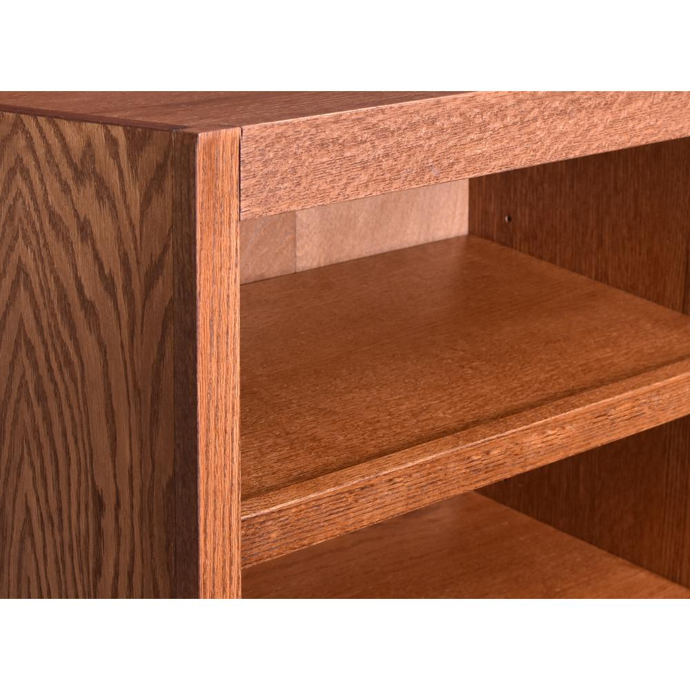 Concepts In Wood Shoe Rack with Drawer, Dry Oak Finish. Picture 3