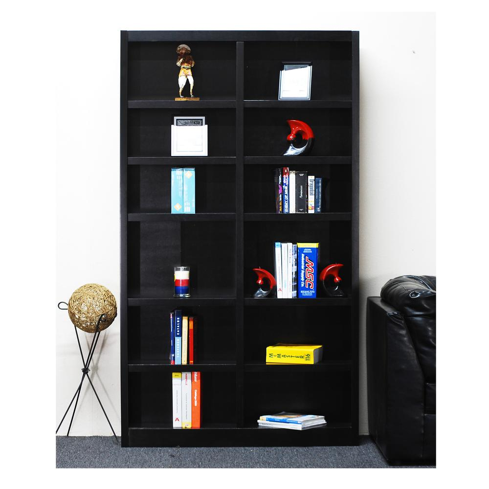 Concepts In Wood Double Wide Bookcase 12 Shelves Espresso