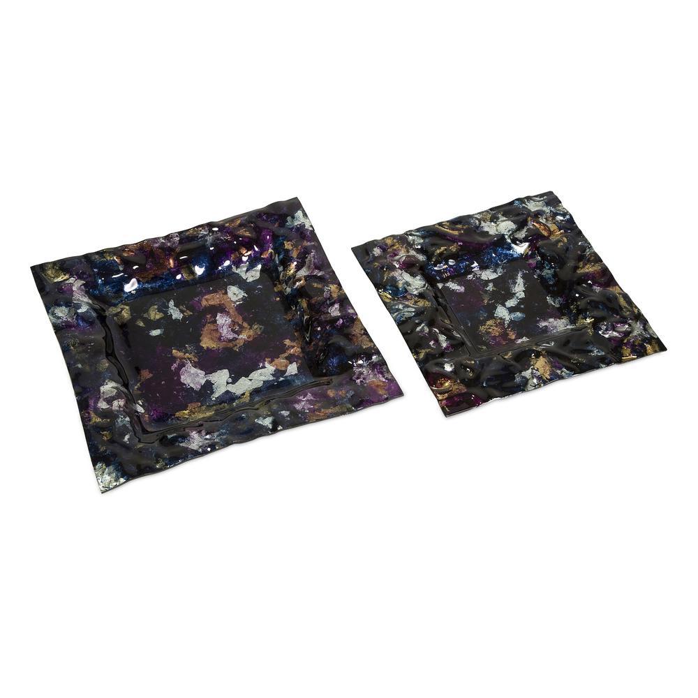 Barkett Square Glass Trays - Set of 2