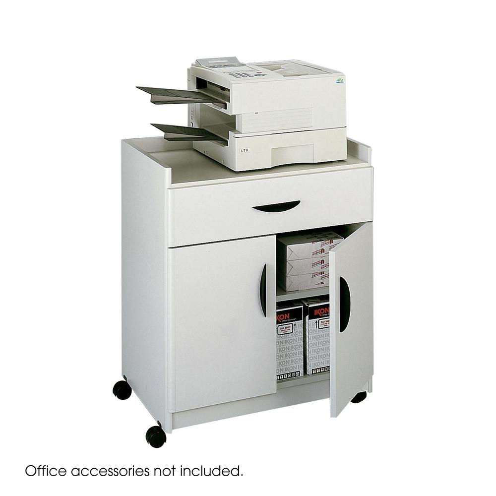 Mobile Laminate Machine Stand w/Pullout Drawer, 30w x 20-1/2d x 36-1/4h, Gray. Picture 2