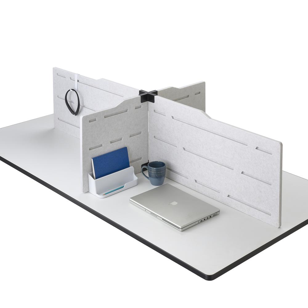 Hideout™ Privacy Panel Accessory Kit, White. Picture 1