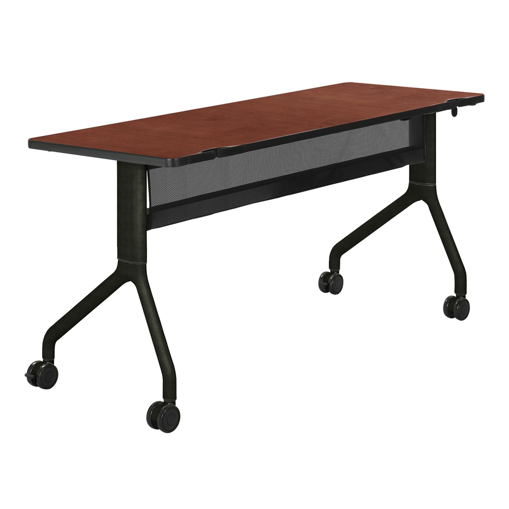 Rumba™ 60 x 24 Rectangle Table Cherry/Black. Picture 1