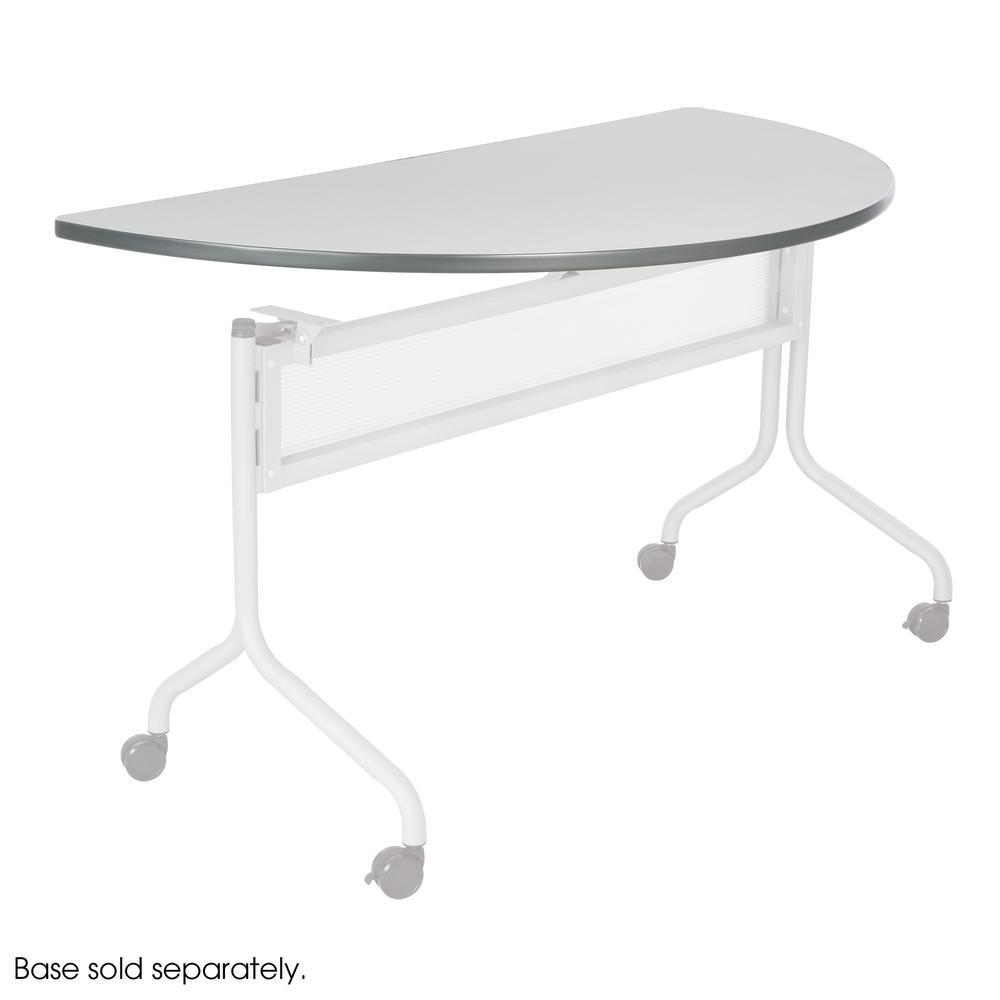 """Safco Impromptu Mobile Training Table Top - Half-round Top - 48"""" Table Top Width x 24"""" Table Top Depth x 1"""" Table Top Thickness - Assembly Required. Picture 1"""