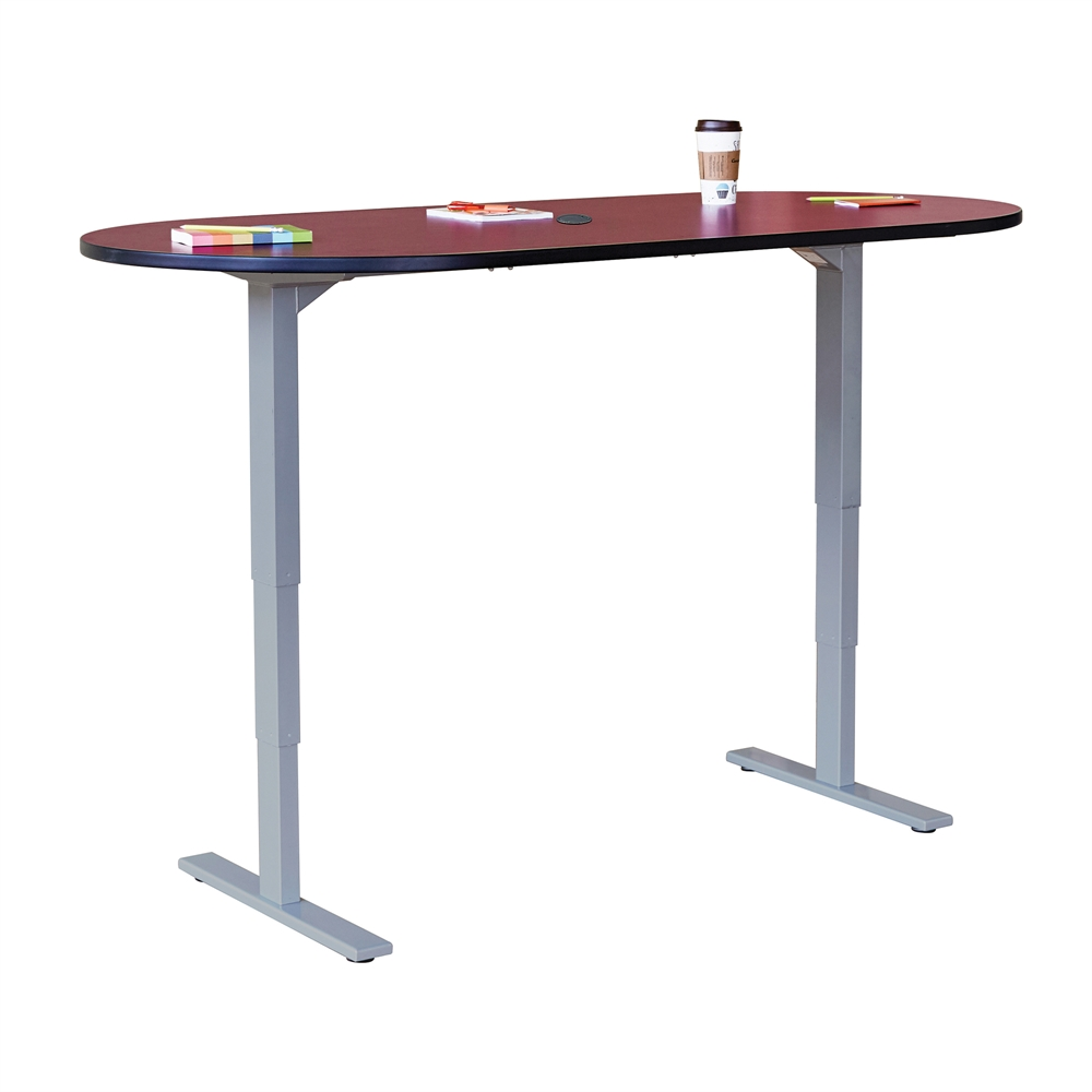Electric height adjustable teaming table racetrack for Mirror 72x36