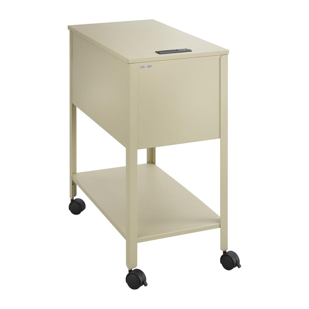 """Safco Extra Deep Mobile Tub File - 300 lb Capacity - 4 Casters - 2"""" Caster Size - Steel - x 13.5"""" Width x 24.8"""" Depth x 28.3"""" Height - Putty - 1 Each. Picture 1"""