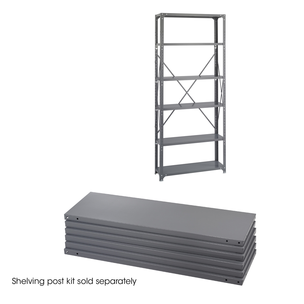 36 x 12 Industrial 6 Shelf Pack Gray. Picture 1