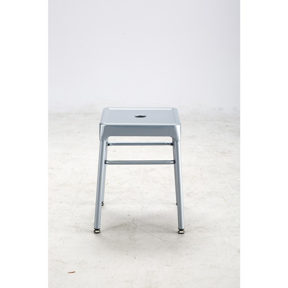 Safco® Steel Guest Stool Silver. Picture 3